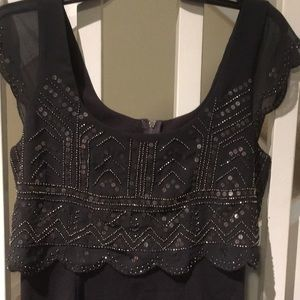 American eagle gray/black sequin dress